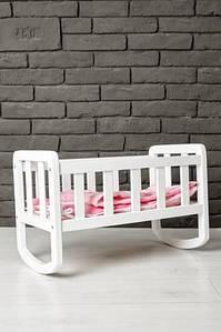 Ліжечко для ляльки (тон білий) (gk_10017)