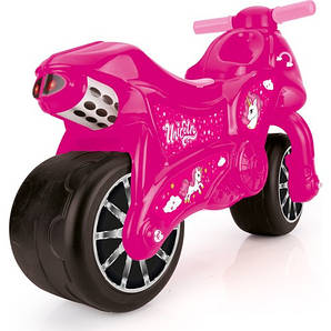 Мотоцикл - беговел DOLU розовый (2528)