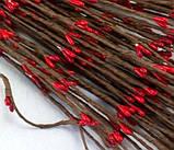 Гілочка з червоними тичинками гнучка 40см, фото 2