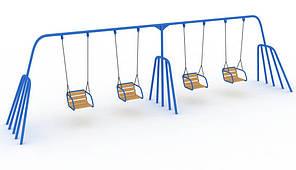 "Дитяча Гойдалка ""Близнята"" база (без сидінь) (kg_12201) 6,8x1,4x2,4, 407"
