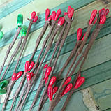 Гілочка з червоними тичинками гнучка 40см, фото 4
