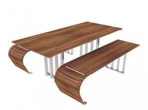 Дерев'ний Вуличний набір Мерсі (стіл Мерсі, 2 лавки Мерсі) (31901)