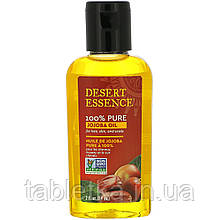 Desert Essence, 100 % масло жожоба для ухода за волосами, кожей и кожей головы, 60 мл (2 жидких унции)