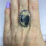 Кольцо дендро-опал красивое кольцо с дендро-опалом в серебре размер 16,5 Индия, фото 2