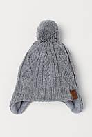 Зимняя вязанная шапочка на флисовой подкладке НM для мальчика