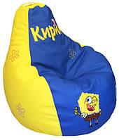 Кресло-пуф мешок бескаркасное детское мягкое Губка Боб