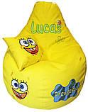 Кресло-пуф мешок бескаркасное детское мягкое Губка Боб, фото 7