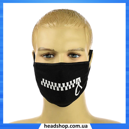 """Хлопковая маска """"Молния"""" - многоразовая защитная маска на лицо двухслойная, фото 2"""