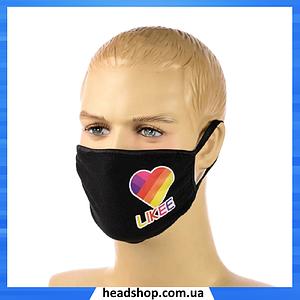 """Детская маска аниме """"Likee"""" - многоразовая защитная маска на лицо двухслойная"""