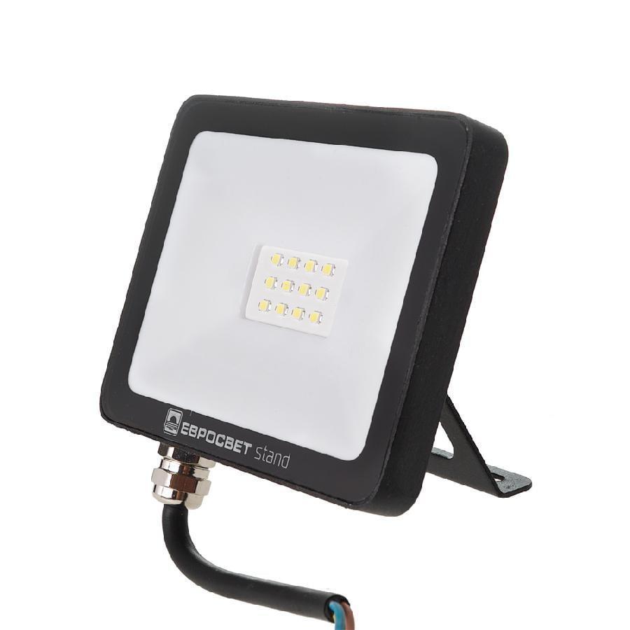 Прожектор світлодіодний ЕВРОСВЕТ 10Вт 6400К EV-10-504 STAND-XL 800Лм