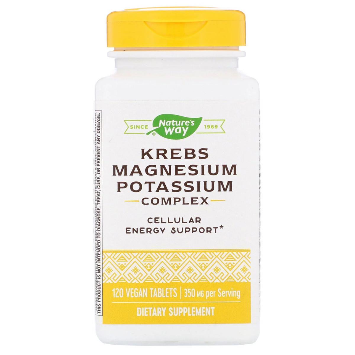 Цикл Кребса, Магний и Калий Хелат, Krebs Magnesium Potassium, Nature's Way, 120 таблеток