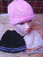 Шапка вязанная ромб, фото 1