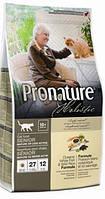 Pronature Holistic Oceanic White Fish & Wild Rice mature Cat, Корм для пожилых и малоактивных котов 5,4 кг