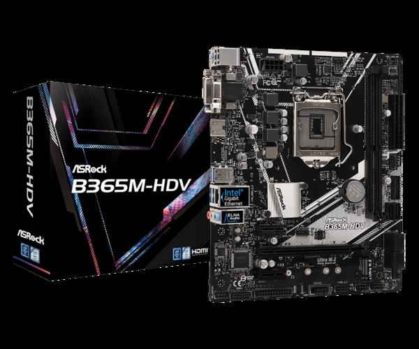 Мат.плата s1151 B365 ASRock B365M-HDV (mATX 2xDDR4 2666 HDMI 1xM.2) (B365M-HDV)