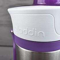 Термобутылка для велосипедиста Aladdin Active Hydration (0.6л), фиолетовая нержавеющая сталь 18/8, фото 3