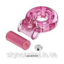 Эрекционное кольцо с вибрацией и презервативом Pink Bear, фото 2