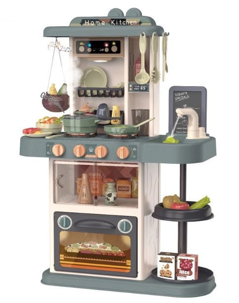 Детская кухня со звуком световыми эффектами паром водой 43 предмета 889-183