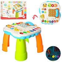 Дитячий Розвиваючий Музичний Стіл Intelligence Learning Table, світло. і звук. червон., розмір 47х47х30 арт. 82