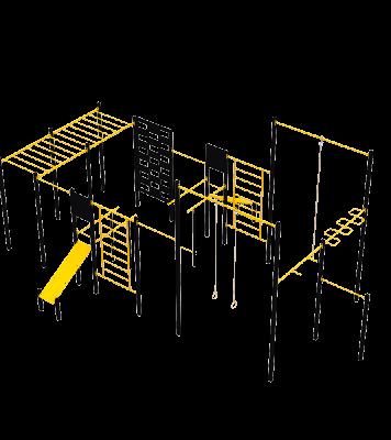 Спортивный комплекс WorkOut 3 Kidigo (2120)