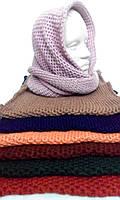 Шарф хомут вязанный м 11 , разные цвета