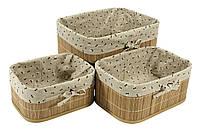 Корзинка из бамбука 18х24х12см