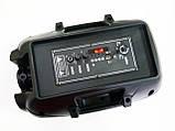 """UKC HS-008BT 8"""" Беспроводная портативная bluetooth колонка - чемодан с караоке, фото 2"""