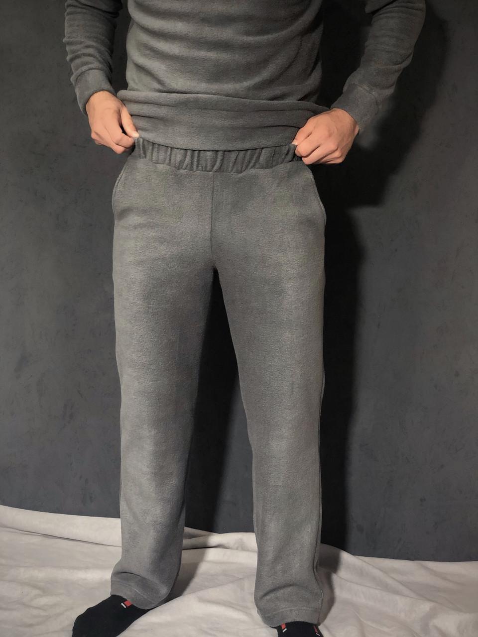 Серые спортивные штаны из флиса