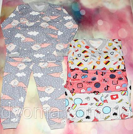 Дитяча тепла піжама для дівчаток, фото 2