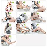 Роликовий масажер для шиї і плечей з ІЧ-прогріванням Massager of Neck Kneading, фото 6