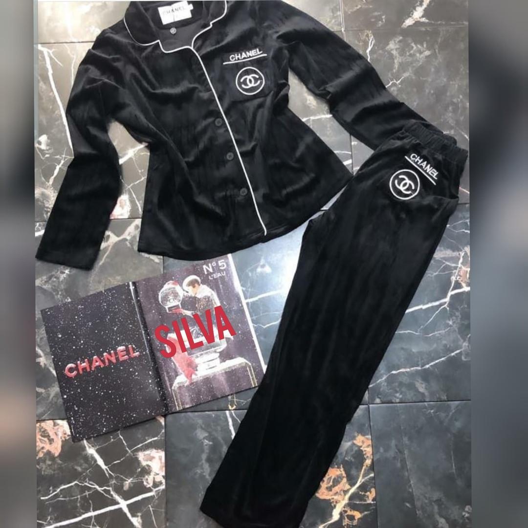 Женская пижама, премиальный велюр люкс, р-р 42-44; 46-48 (чёрный)