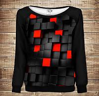 Жіночий світшот - реглан з відкритими плечима з 3D принтом Undegraund red cub