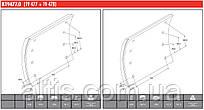 Тормозные накладки SAF 420x200