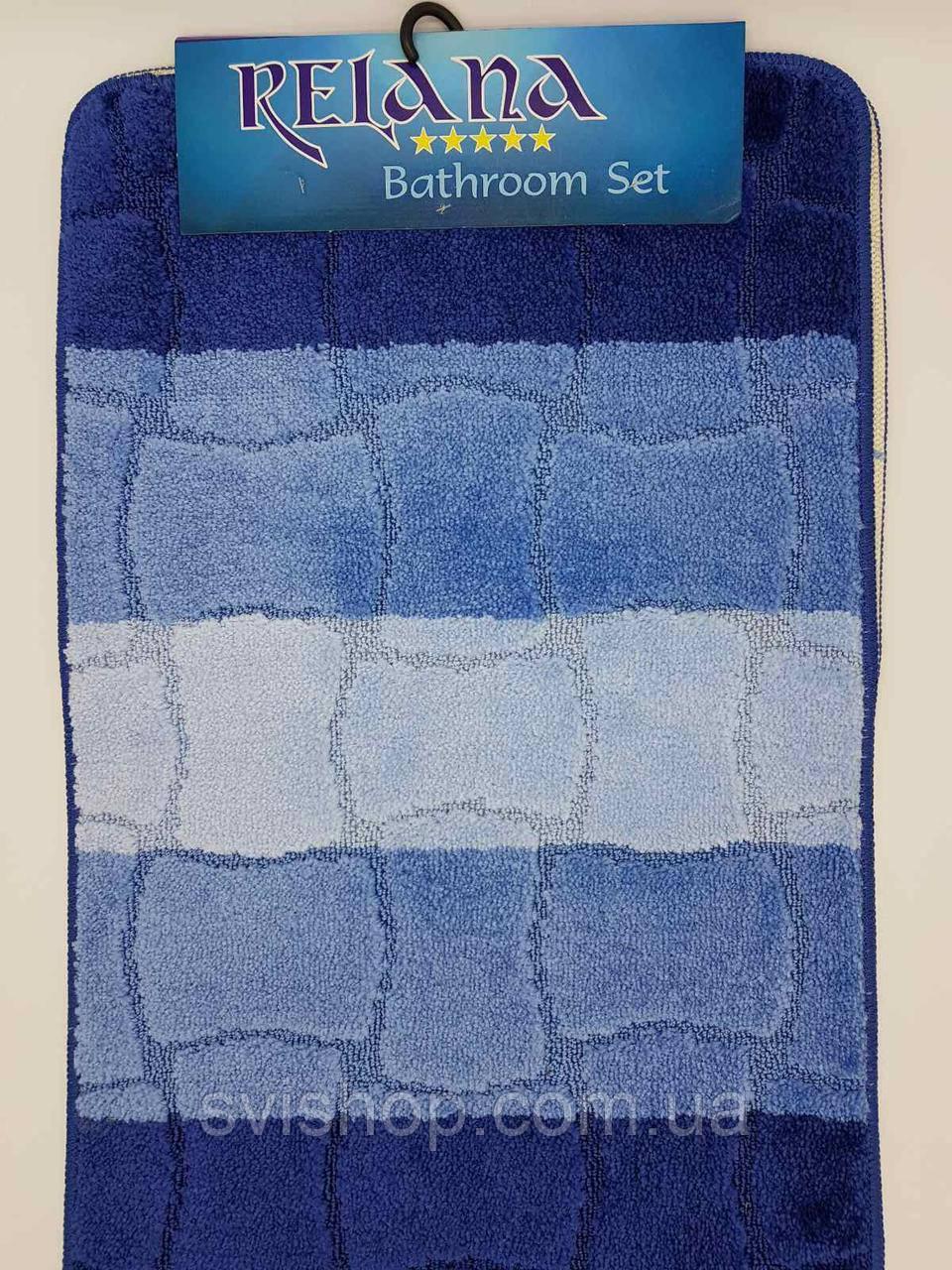 Набор ковриков с ворсом для ванной (Турция) 50х80 и туалета 50х40см.