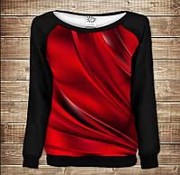 Жіночий світшот - реглан з відкритими плечима з 3D принтом-Red queen