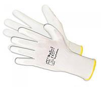 Трикотажные защитные перчатки Artmas RnyPu White(12) kat.1, белый, 6
