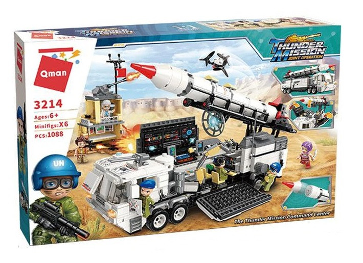 """Конструктор Qman Thunder Mission 3214 """"Мобильный командный пункт"""" 1088 дет"""