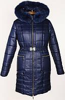Зимняя женская стеганная куртка с натуральной опушкой.Новинка!!!