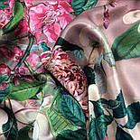 Шовковий хустку 10801-2, павлопосадский платок шовковий (атласний) з подрубкой, фото 9