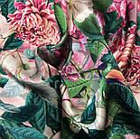 Шовковий хустку 10801-2, павлопосадский платок шовковий (атласний) з подрубкой, фото 7