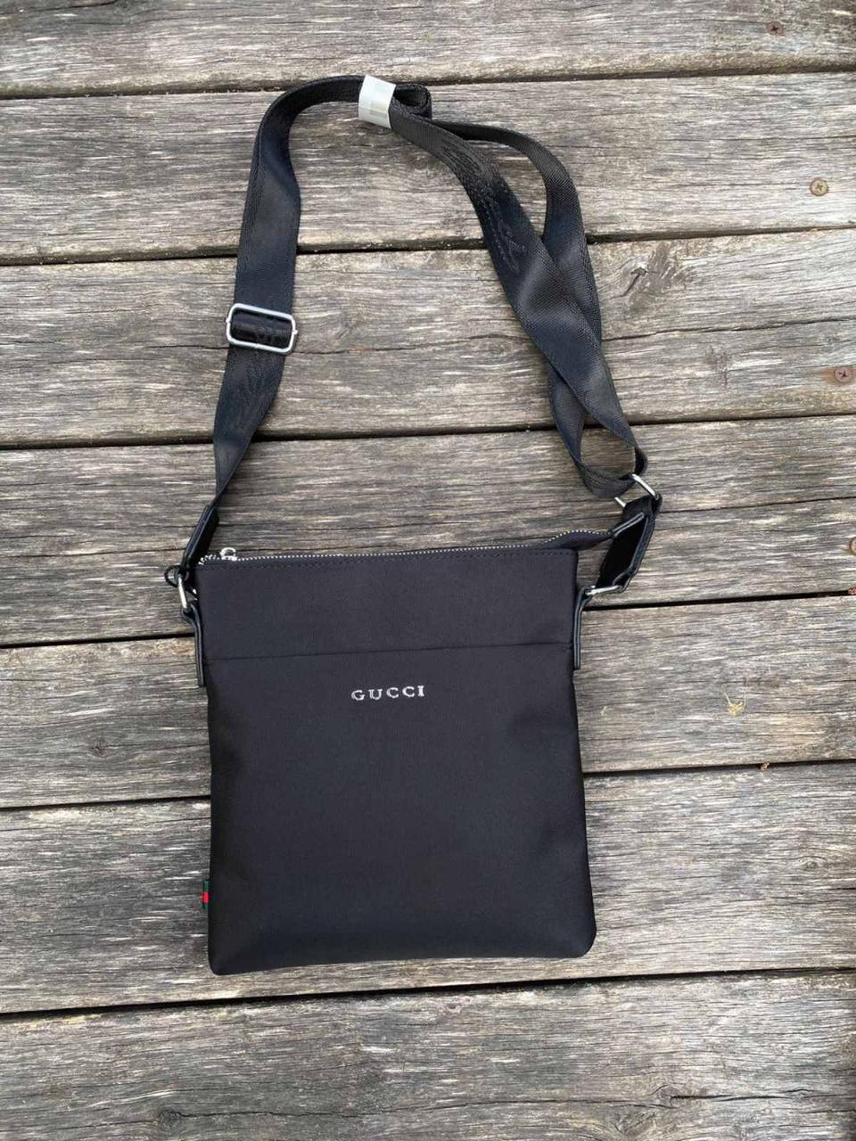 Брендовая мужская сумка GUCCI. Качество ЛЮКС. Материал: текстиль. Очень удобная, вместительная.