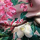 Шовковий хустку 10801-2, павлопосадский платок шовковий (атласний) з подрубкой, фото 3