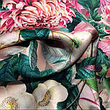 Шовковий хустку 10801-2, павлопосадский платок шовковий (атласний) з подрубкой, фото 5
