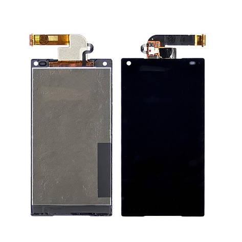 Дисплей для Sony E5803/E5823 Xperia Z5 Compact с черным тачскрином, фото 2
