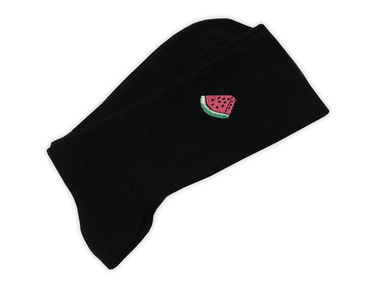 Носки Neseli Daily Premium  Арбуз черные 5987