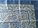 Новела 846-13, павлопосадский хустку (атлас) шовковий з подрубкой, фото 4