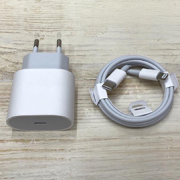Комплект быстрой зарядки для Iphone 11,12  адаптер + кабель 3A 20W