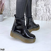 Лаковые ботинки женские натуральная кожа Демисезонные, фото 3
