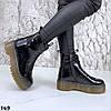 Лаковые ботинки женские натуральная кожа Демисезонные, фото 2