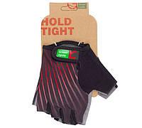 Перчатки Green Cycle NC-2348-2014 Light без пальцев S черно-красные