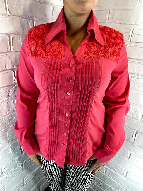 Рубашка женская 03171 коралловая 48-56